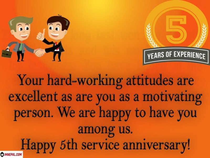congratulations on your 5 years of service quotes