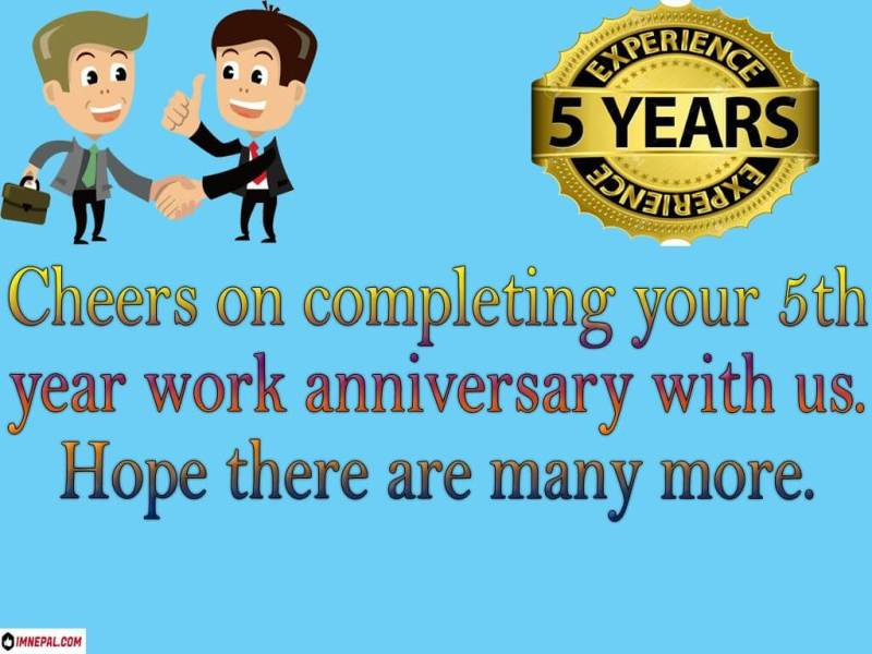 congratulations on 5 years of service messages