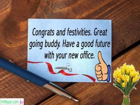 Congratulations message wishes text for New Office Business Opening starting quotes Pictures Images Photo