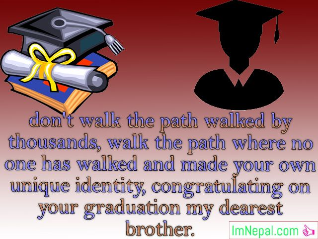 Graduation Congratulations Message For Brother