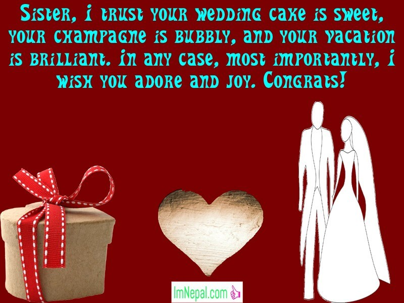 Happy Wedding Wishes Images For Sister