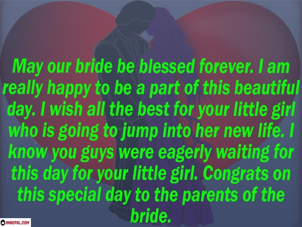 Wedding Marriage Congratulations Messages Parents Bride and bridegroom image
