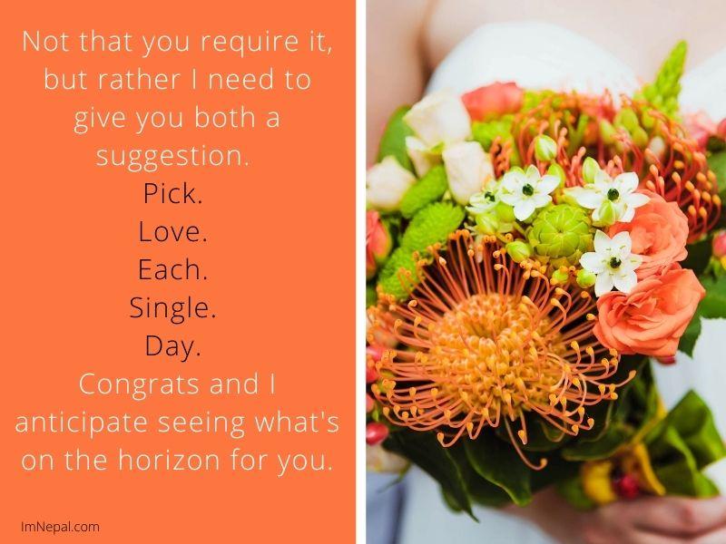 Congratulations Message on Wedding image