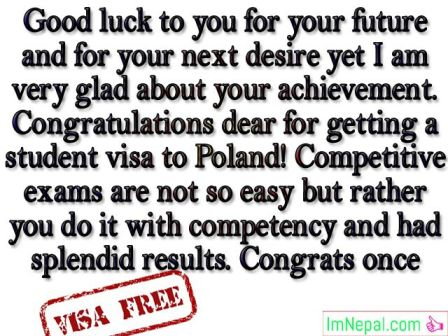 Congratulations Messages For Getting Visa - Best Wishes, SMS & Quotes