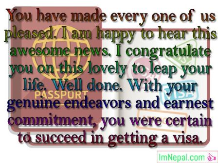 Congratulations Messages For Getting Visa Best Wishes Sms Quotes