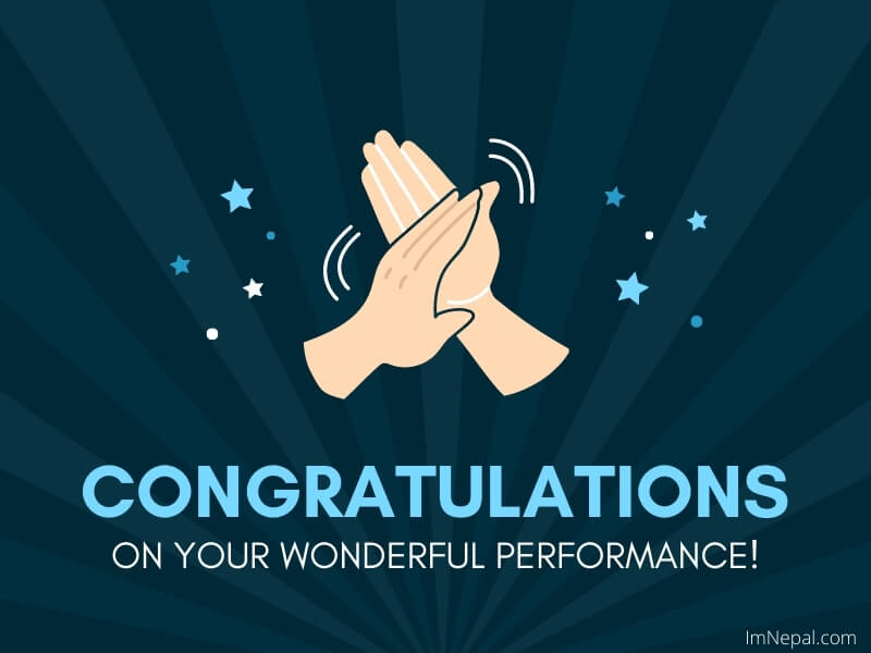 congratulations for great performance cards