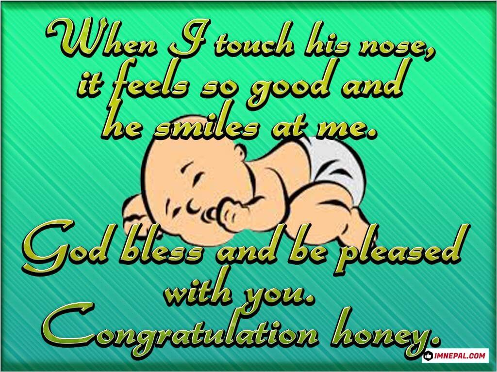 congratulations messages on newborn baby for wife husband