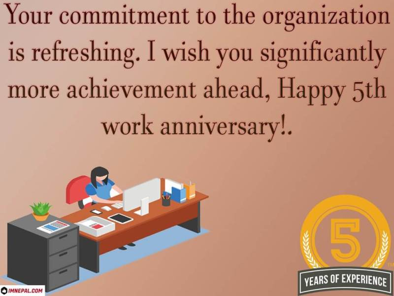 congratulations on your 5th year work anniversary