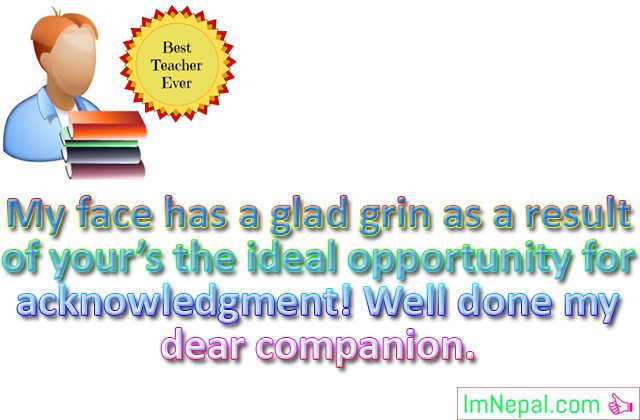 Best teacher award prizes winner achievement Congratulation messages quotes greeting card images wishes photos pictures wallpapers