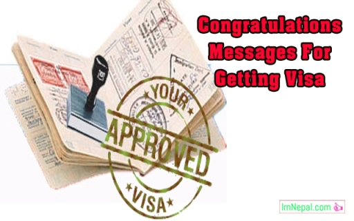 Congratulations Messages For Getting Visa - Best Wishes, SMS & Quotes Collection Images