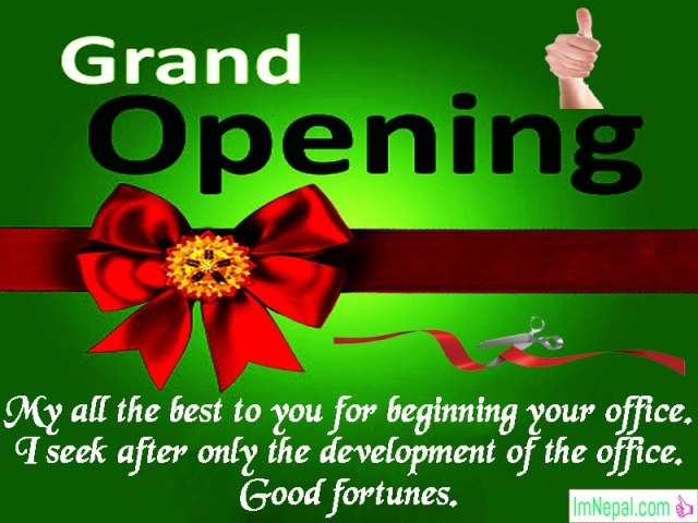 New Office Business Opening Congratulation Messages Wishes Quotes Images Greetings Msg SMS picture Sample Card