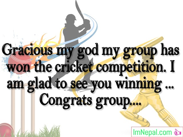 Winning Sports Tournament Competition Match Sports Congratulations Messages crickets Best Wishes Images Photos Pictures Greetings Cards Wallpapers Quotes