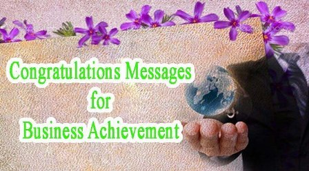 congratulations messages for achievement business