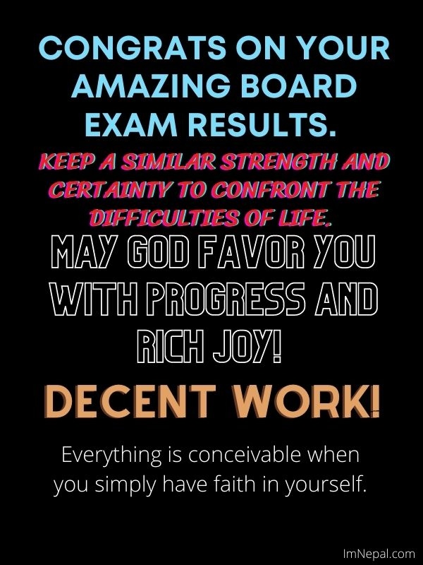 Congratulations message for passing the board exam