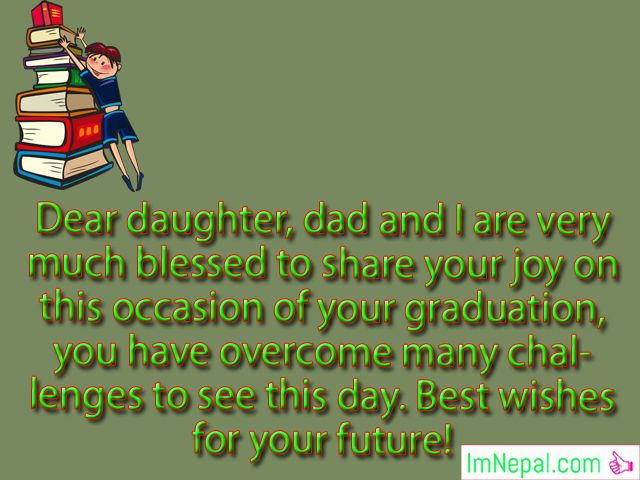 congratulations messages passing exams graduation success achievements pics photos picture images pics greetings card For Daughter From Parents
