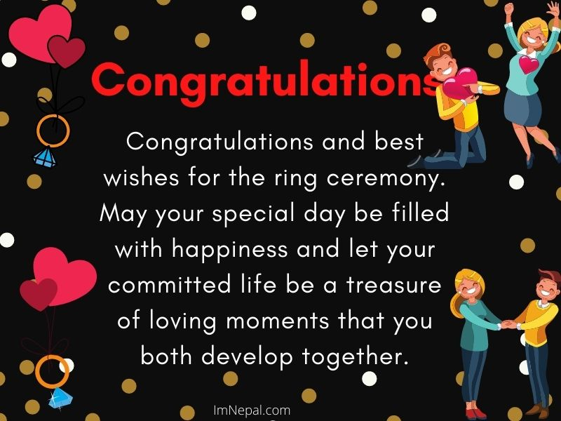 Congratulation Messages For Ring Ceremony Image