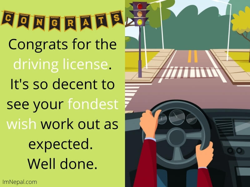 Congrats for the driving license. It's so decent to see your fondest wish work out as expected. Well done. image