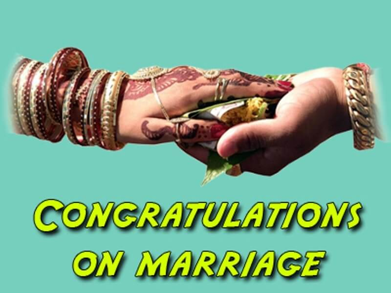 Congratulations pic for marriage